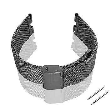 Metal GOOQ ajuste del reloj de acero inoxidable pulsera para Moto 360 Motorola Moto 360 correa de muñeca de Smartwatch incluye herramienta inoxidable ...