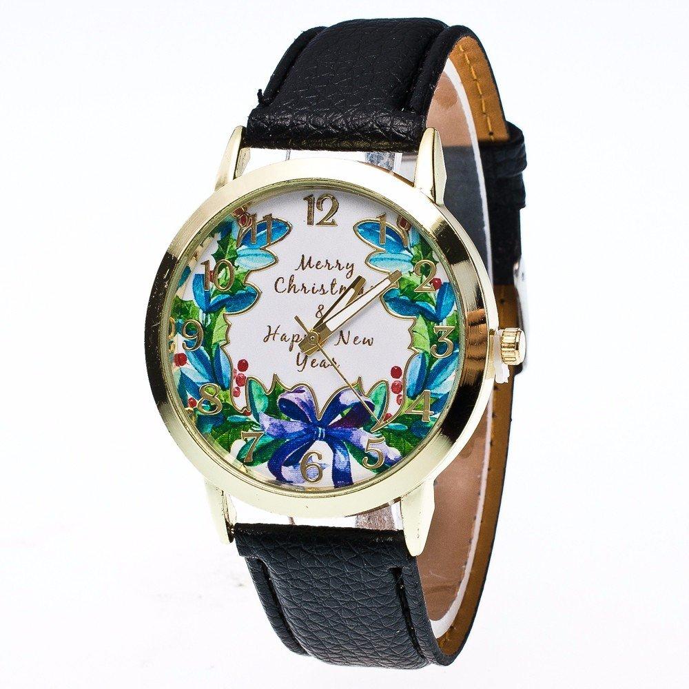 Relojes Pulsera Mujer Estampado Christmas Garland Wreath, Merry ...