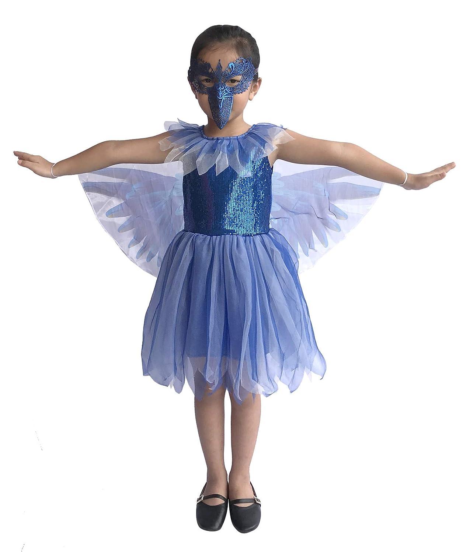 390e3496e457f Amazon.com  So Sydney Deluxe Girls Blue Bird Costume   Accessories ...