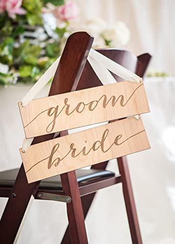 amazon com wedding chair sign for bride groom chairs at wedding