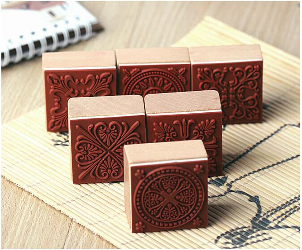 Amazon.com: 6 Styles DIY Scrapbooking Lace Stamps Vintage Flower ...