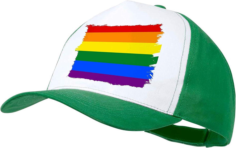 Gorra Negra Bandera Dia Orgullo Gay Color Cap: Amazon.es: Deportes y aire libre