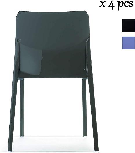 I.T.F. Design SRL Mi_AMI Lot de 4 chaises empilables Gris