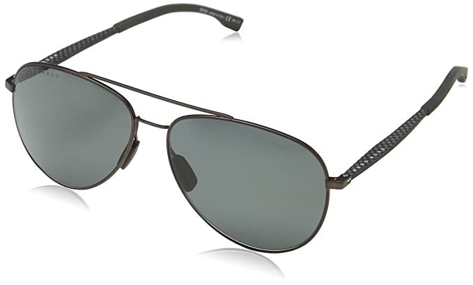 15ed35cac83 Image Unavailable. Image not available for. Color  BOSS by Hugo Boss Men s  Boss 0938 s Polarized Aviator Sunglasses ...