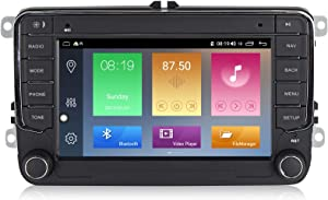 Android 10.0 OS 7 inch Touch Screen Car Radio Systems for VW Volkswagen Beetle Seat Skoda Golf 5 Golf 6 Polo Passat B7 T5 CC Jetta Tiguan Vehicle GPS DSP Car Multimedia Navigation