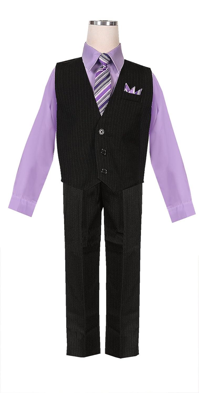 Amazon Boys Lilac Lavender Wysteria Pinstripe Vest Set With