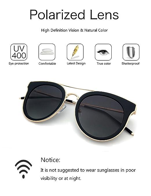 Dada-Pro Vintage Polarisierte Damen Sonnenbrille - Fahrer Brille 100% UV400 Schutz für Autofahren Reisen Golf Party und Freizeit (Blue) 2Pgkf