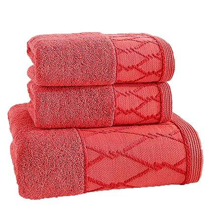 LOF-fei Juego de 3 Toallas 100% algodón Gruesa para Adulto Hotel Hombres y