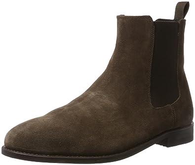 018b4dc7022c2 Clarks Herren Ellis Franklin Chelsea Boots, Braun (Dark Brown Suede), 41