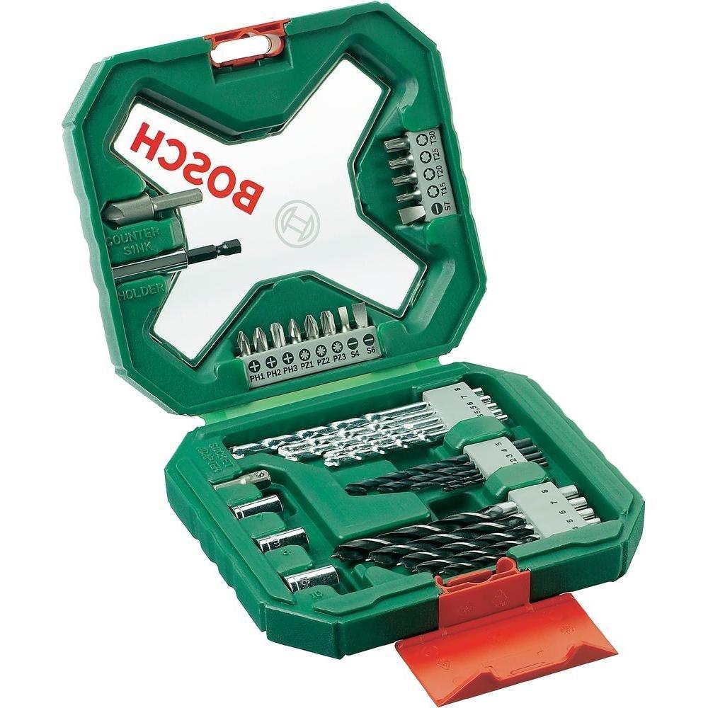 Maletín Bosch X-Line con 34 piezas para atornillar y taladrar