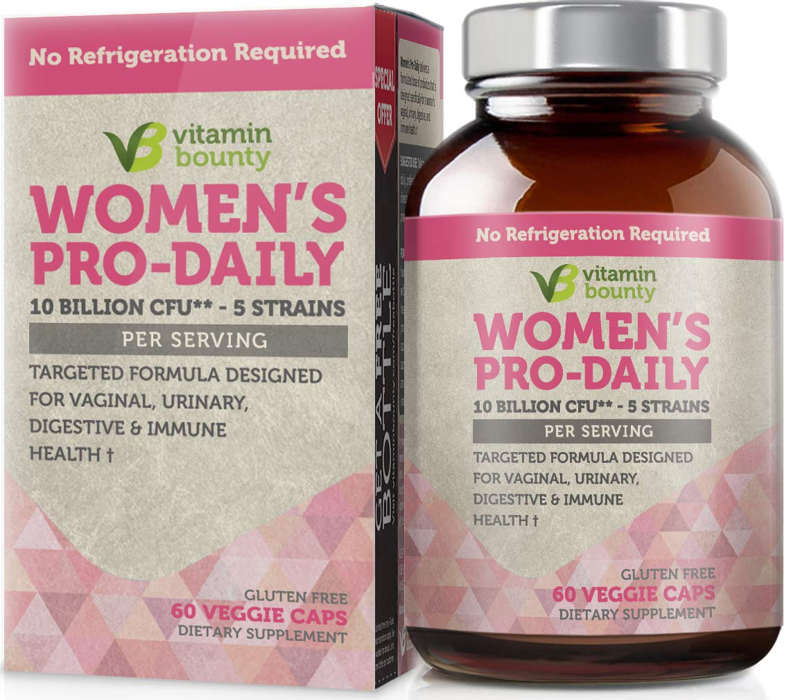 Vitamin Bounty Probiotic & Prebiotic for Women - 10 Billion CFUs Per Serving with Cranberry, 5 Strains - for Feminine Health, bv Defense & pH Balance by Vitamin Bounty
