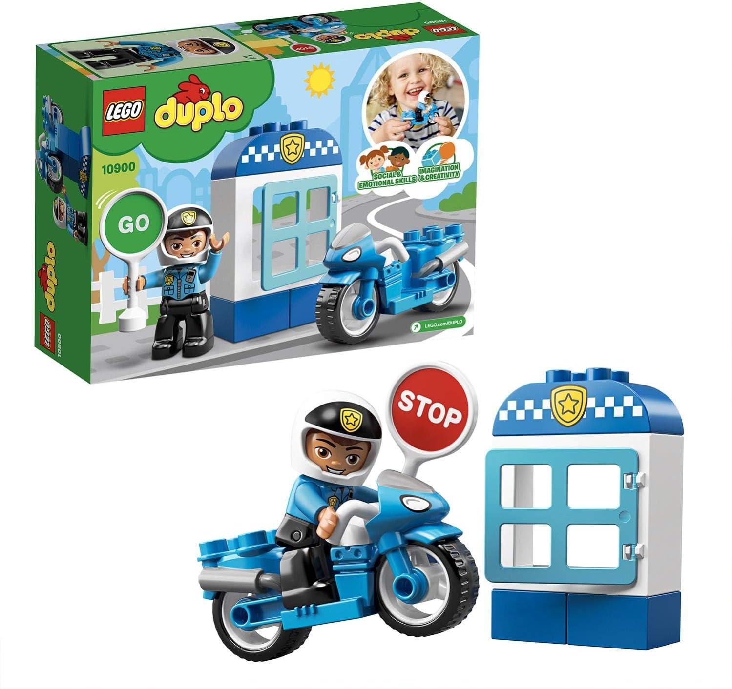 LEGO DUPLO Town - Moto de Policía, Vehículo de juguete de ...