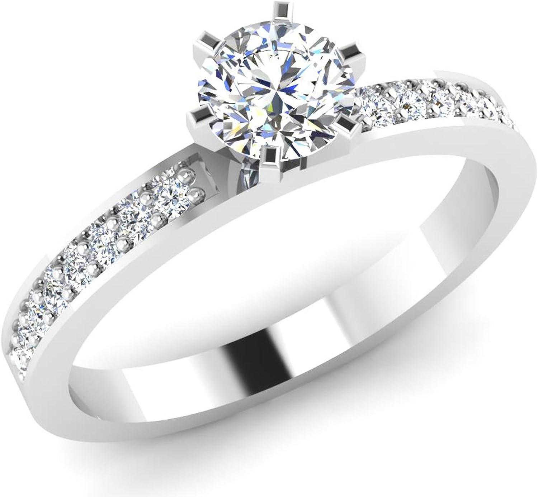Amazon Com Forever Carat Us 14k White Gold Round Diamond Bridal