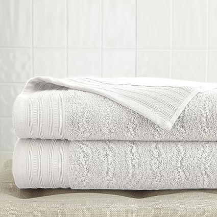 Gran tamaño 2 pack toallas de secado rápido hojas de baño | incluye – 2 gigante