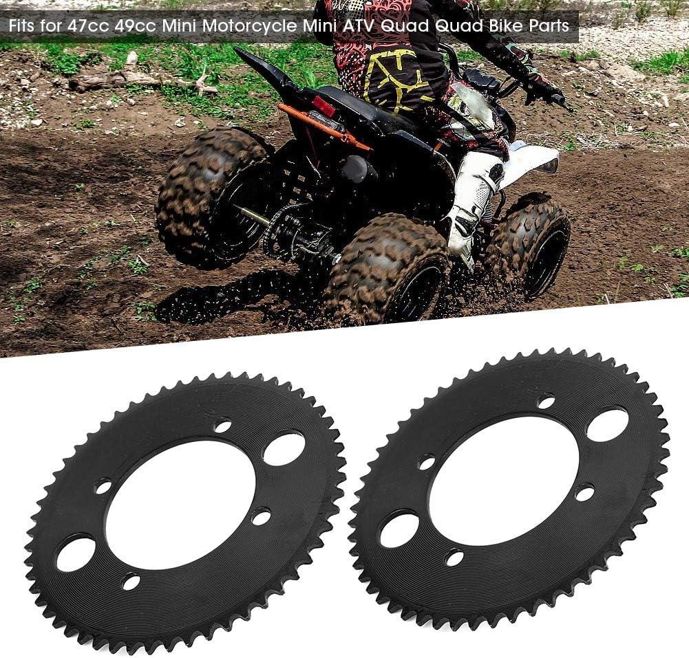 2 pi/èces 25 H 55 T 54 mm pignon arri/ère de dent convient pour 47cc 49cc Mini moto ATV Quad Bike noir Pignon de cha/îne