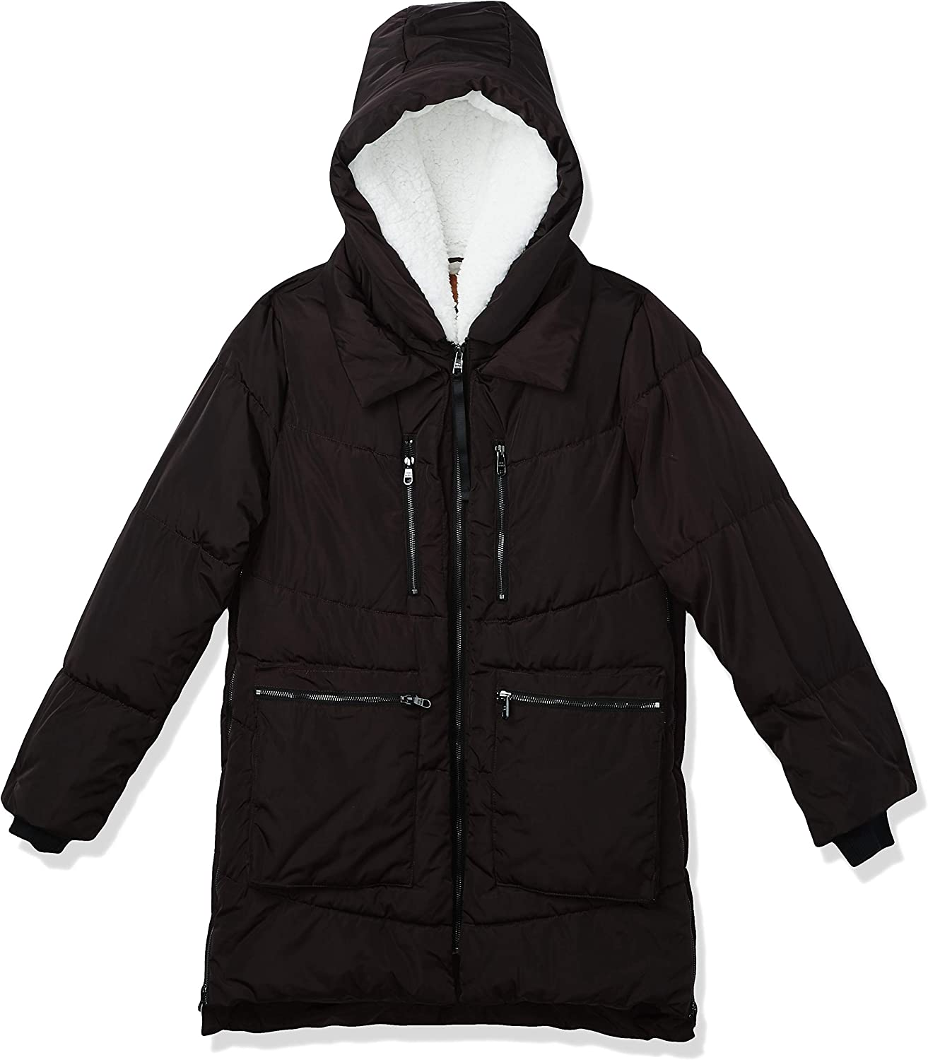 Steve Madden Womens Quilted Anorak with Hood