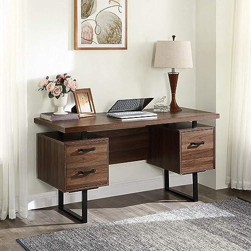 Danxee Home Office Computer Desk Wood Executive Desk Home Office Desk