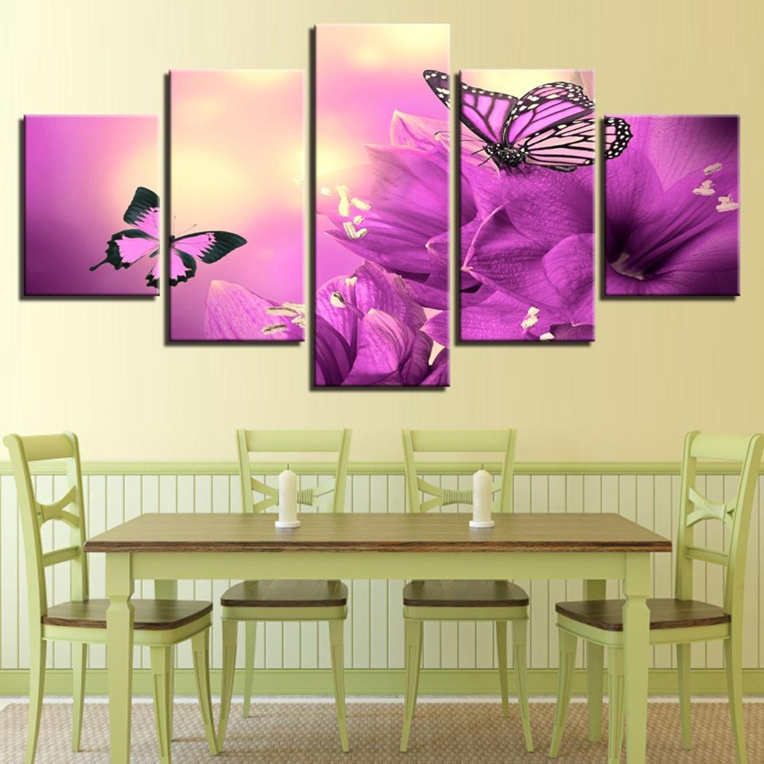 Amazon.com: Canvas Wall Art Pictures Home Decor Living Room 5 Pieces ...