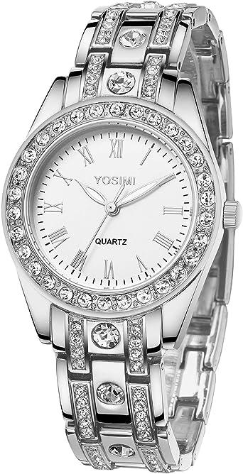 2017 Venta Caliente Mujeres Relojes Señora Diamante Stone
