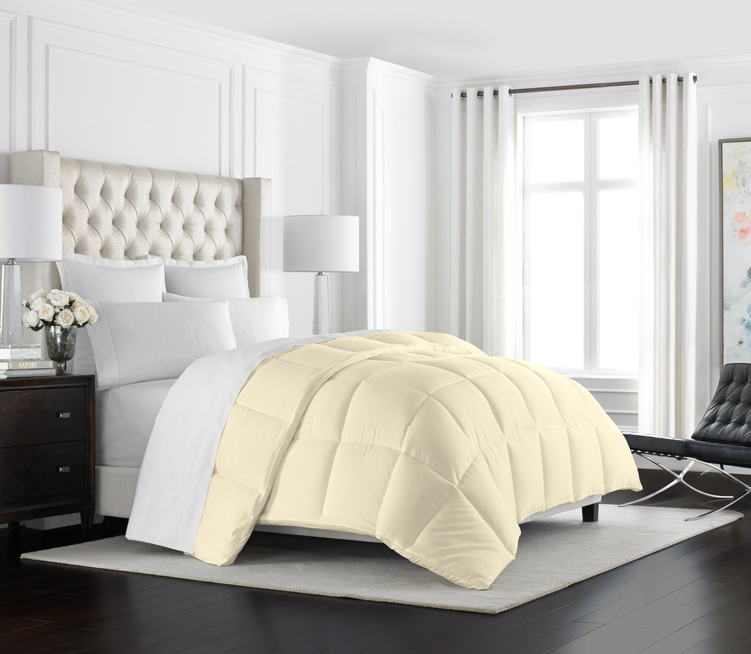 Beckham Hotel Collection Comforter Ivory - Full/Queen