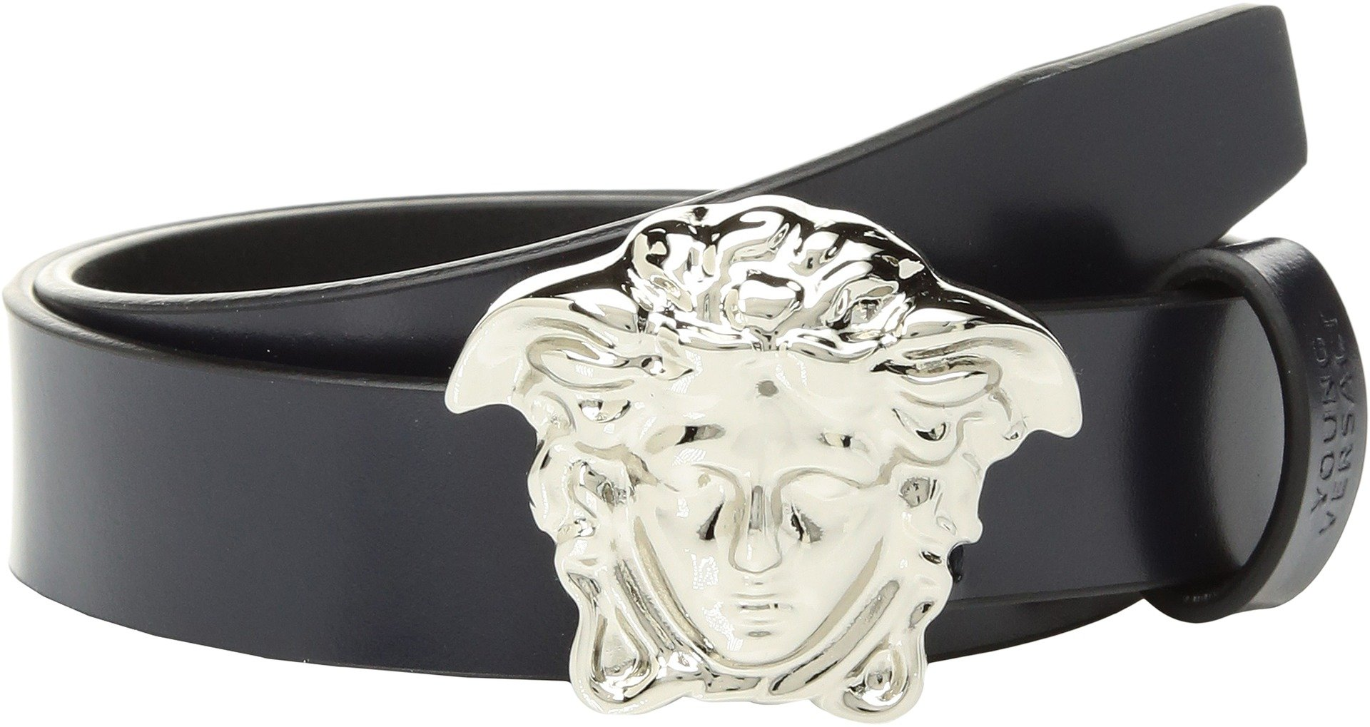 Versace Kids  Boy's Belt with Medusa Buckle (Big Kids) Navy L 12