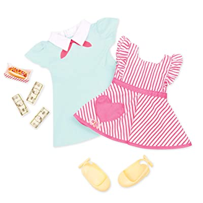 Our Generation Retro Hotdog Server Outfit: Toys & Games