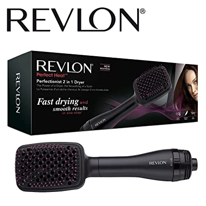 Revlon rvha6475uk perfeccionista 2-in-1 ionizante Paddle cepillo secador de pelo para mujer