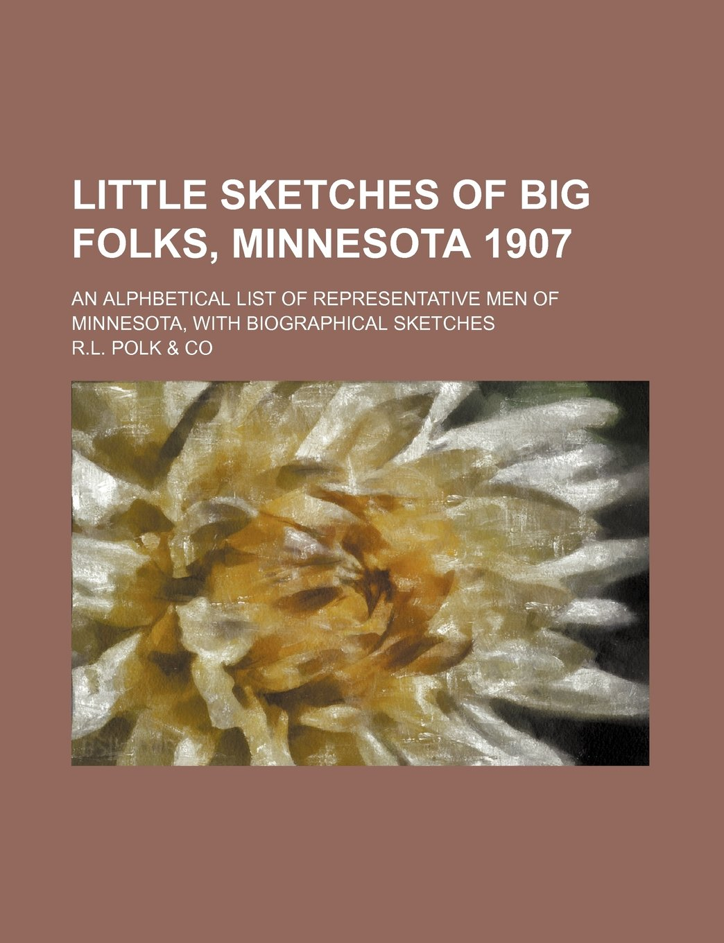 Little sketches of big folks, Minnesota 1907; an alphbetical list of representative men of Minnesota, with biographical sketches ebook