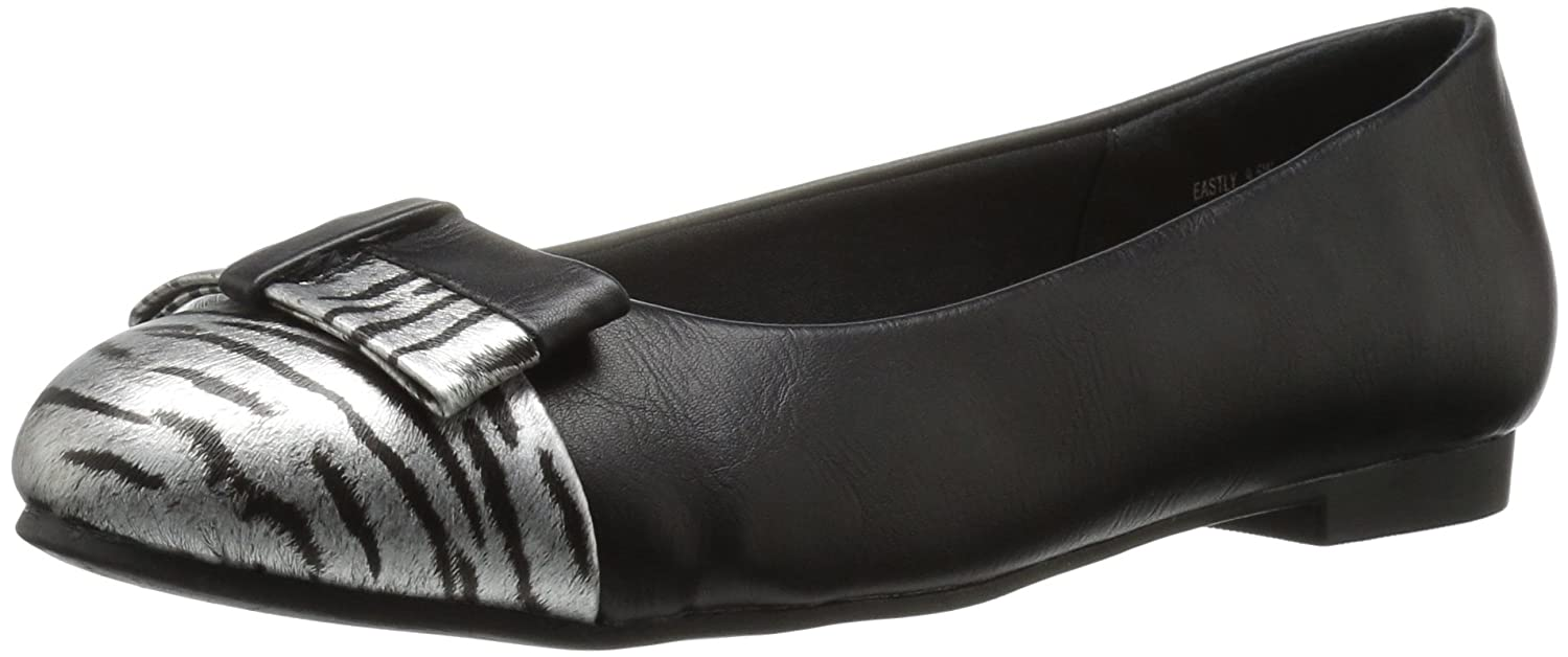 Annie Shoes Women's Eastly Wide Calf Flat B01GKEBOAY 8.5 W US|Black/Zebra