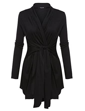 BEYOVE Women's Long Sleeve Open Front Plus Size Lightweight Drape ...
