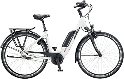Bicicleta eléctrica KTM Macina Central 8 Bosch 2020 (tubo de 28 pulgadas, 43 cm), color blanco mate, negro y rojo: Amazon.es: Deportes y aire libre