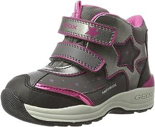 Geox 'Kiwi Girl' Heart Print High Top Sneaker (Walker
