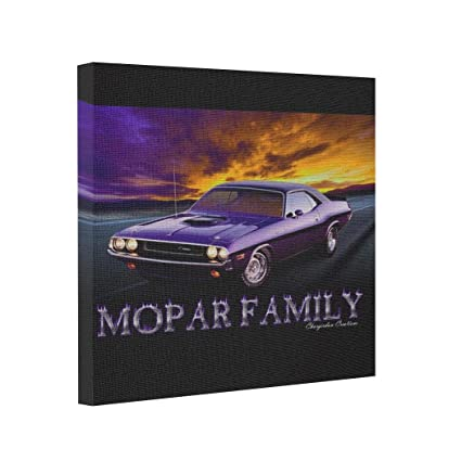 tee popo gallery wrapped canvas plymouth mopar inexpensive canvas ...