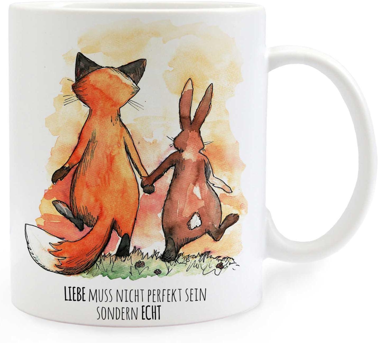 Tasse Becher Kaffeebecher Opas machen die Welt schöner Fuchs Herz Hut ts1066