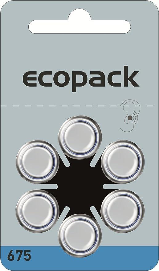 60 Stück Varta Ecopack Za 675 Hörgerätebatterie 650 Mah 1 4 V Elektronik