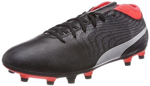 Nero 39 EU Puma One 18.4 AG Scarpe da Calcio Uomo Black Silver Red los