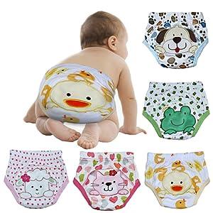 Skhls 4 Couches Culottes d'apprentissage Lavable pour les Enfants 2-4 ans