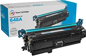 LD Remanufactured Toner Cartridge Replacement for HP 648A CE261A (Cyan)
