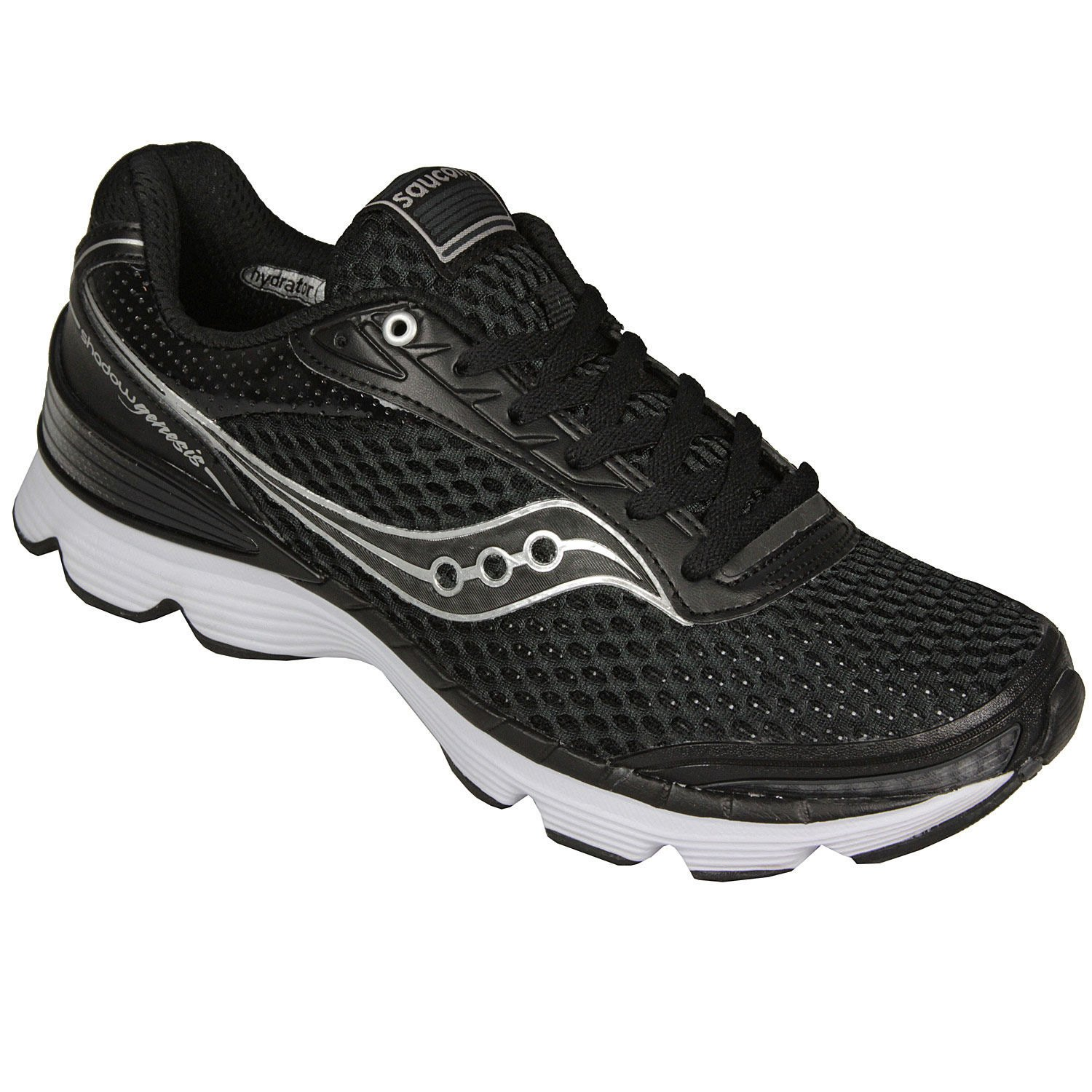 Saucony Men's Grid Shadow Genesis Running Shoe,BlackWhite