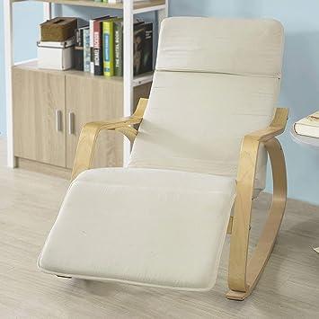 Amazon.com: Cómodo relajarse silla mecedora con reposapiés ...