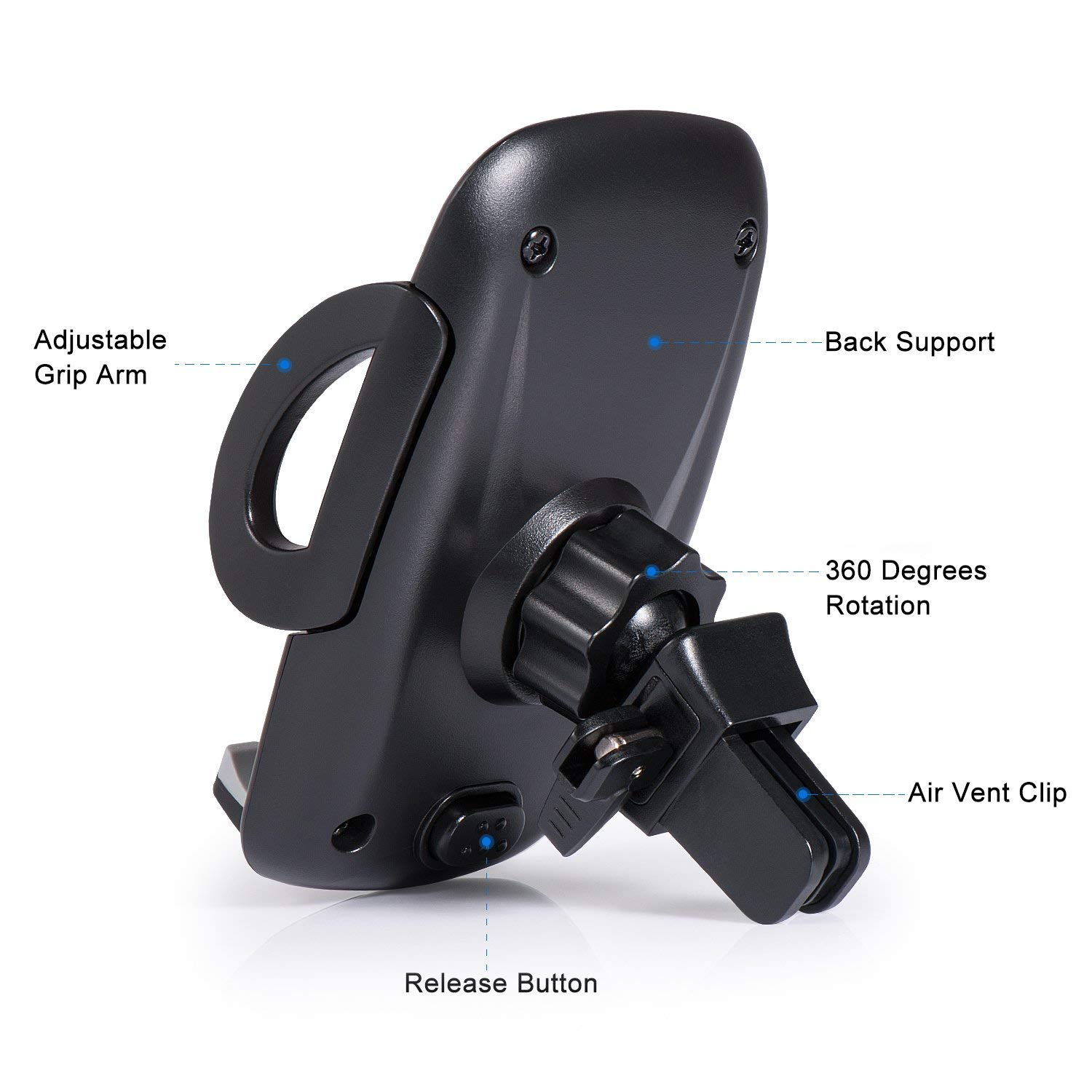 Universal Smartphone Car Air Vent Mount Holder Cradle,for XS XS Max X 8 8 Plus 7 7 Plus SE 6s 6 Plus 6 5s 5 4s 4 Galaxy S6 S5 S4 LG Nexus Sony Nokia and More