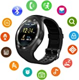 HNESS Unisex Bluetooth 4g Smart Watch for Men/Girls/Women/4g Sim Card Support/Touch Screen/Compatible with All Android Mobile Phones,Smart Watches for Kids Boys,Digital Watch for Boys(Random Color)