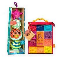 B.toys 功能触感球+捏捏乐数字浮雕积木 组合装 精美礼盒套装 婴幼儿童益智玩具  6个月+