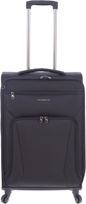Renwick 24 Inch Softside Lightweight Luggage Spinner Suitcase Black