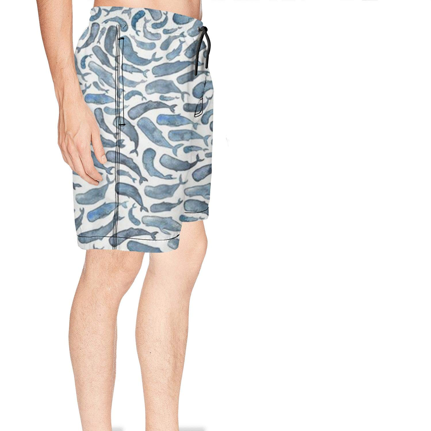 XULANG Mens for The Love of Whale Swim Trunks Jogging Skate Knee Length Boardshorts by XULANG (Image #3)