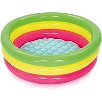 Bestway 3 Boğum Renkli, Şişme Zemin Çocuk Havuzu, 51128