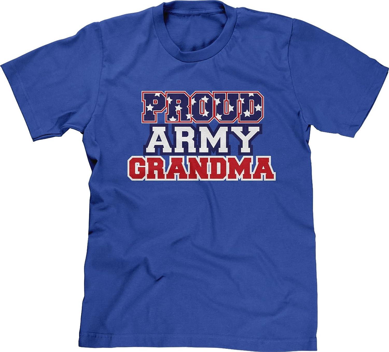 Blittzen Mens T-shirt Proud Army Grandma Flag Imprint