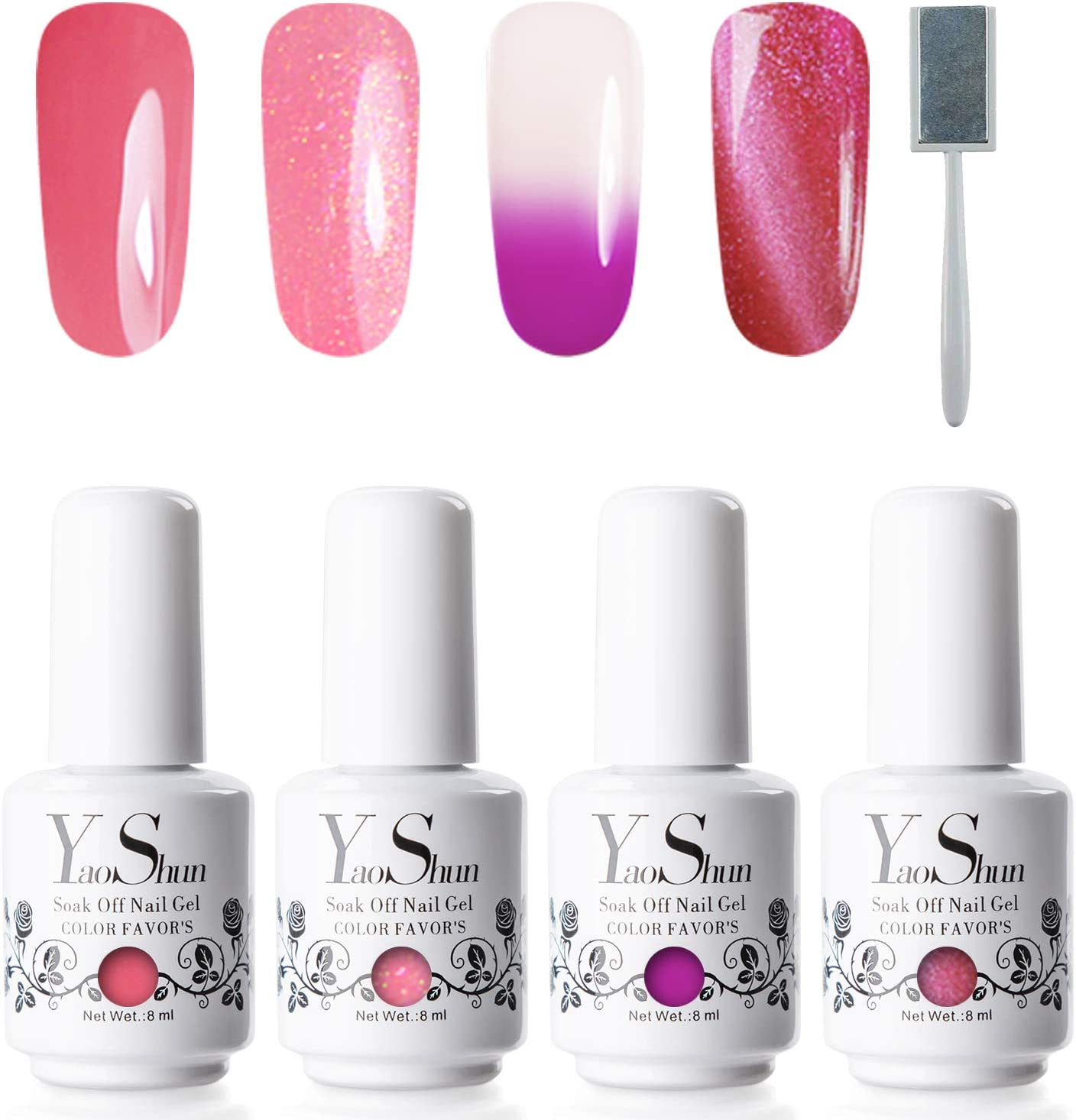 Gel Polish Kit - Soak off Nail Gel Nail Art, Gel Polish Set Manicure at Home UV Nail Gel Kit