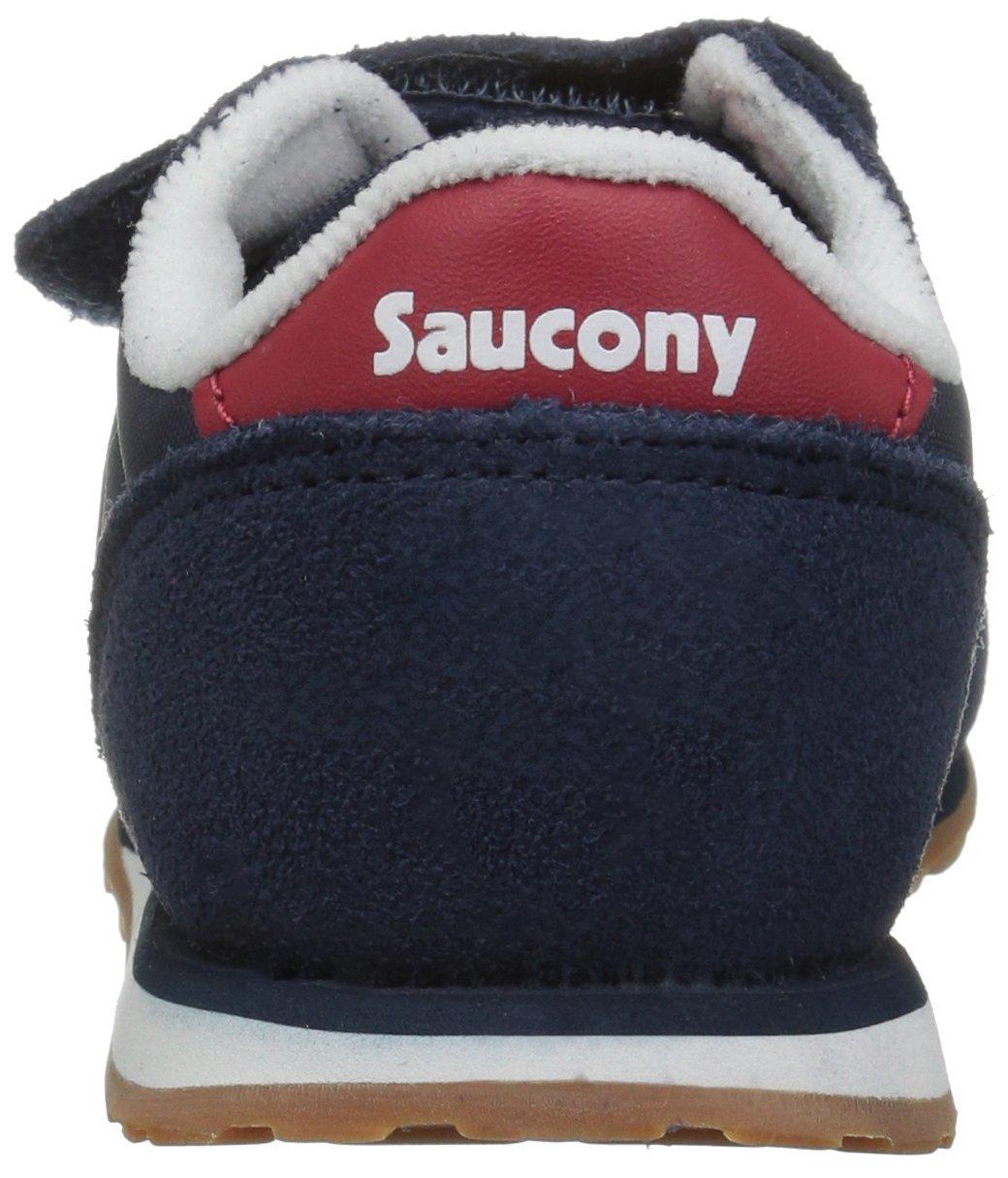 Saucony Jazz Hook & Loop Sneaker (Toddler/Little Kid), Navy/Red, 12 M US Little Kid by Saucony (Image #2)