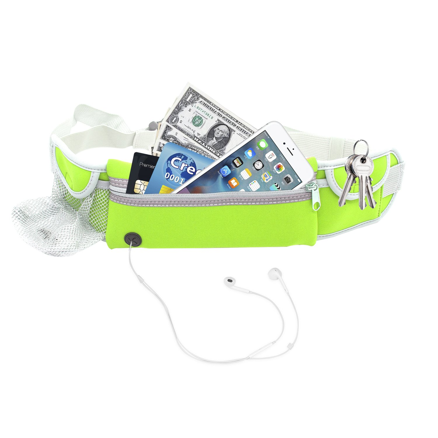 Running Belt Mens Womens Ladies Fitness Belt Holder for Iphone 7/7 Plus 6/6s/6 Plus All Mobile Phones Size Below 5. 5 inch Acessories Fits for Traveling Hiking Walking Green